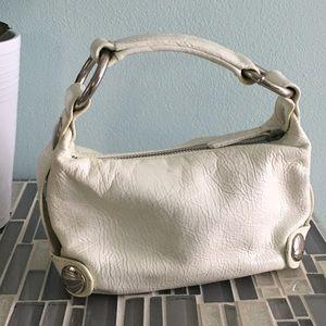 Kooba white leather handbag mini size